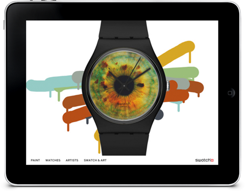 Swatch catalog and painting iPad application